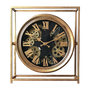 Clocks - GEAR CLOCK METAL FRAME 38X11X42 - EMDE