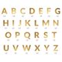Children's party decorations - Banner Alphabet, gold, 14cm - PARTYDECO
