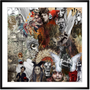 """Fabric cushions - """"Indian Death"""" Collage Limited Edition - L'ATELIER D'ANGES HEUREUX"""