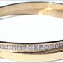 Bijoux - Bracelet double en acier plaqué or avec zirconium et sérigraphie - L'OFFICIEL SRL