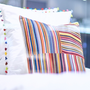 Comforters and pillows - White cotton bed linen with pompons - MIA ZIA