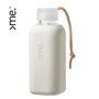 Travel accessories - HANDMADE GLASS BOTTLE SQUIREME. Y1 (600ml) WHITE DOVE SILICONE SLEEVE SUSTAINABLE REUSABLE  - SQUIREME.
