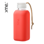 Gifts - HANDMADE GLASS BOTTLE SQUIREME. Y1 CORAL SILICONE SLEEVE SUSTAINABLE REUSABLE  - SQUIREME.