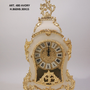 Clocks - art. 480 table clock in bronze plated and wood - OLYMPUS BRASS