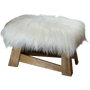 Decorative objects - Larch wood bench with Icelandic sheepskin - L'ATELIER DES TANNERIES