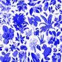 Autres décorations murales - Fresque Fleurs d'Antan Bleu Outremer - PAPERMINT