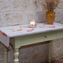 Homewear - Chemin de table Lin/Coton naturel | Imprimé à la main - COLORI DEL SOLE