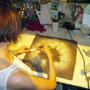 "Fabric cushions - Decorative cushion ""Eyes"" - ELENA KIHLMAN"