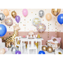Objets design - Ballon en aluminium Happy Birthday, 35cm, rose clair - PARTYDECO