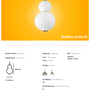 Ceiling lights - Bonbon Single Module Medium White Glass - ATOLYE STORE