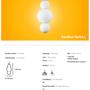 Ceiling lights - Bonbon Single Module Large White Glass - ATOLYE STORE