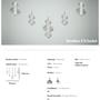 Ceiling lights - Bonbon Linear Set of 5 Multi Smoke Glass - ATOLYE STORE