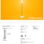 Lampadaires - Bonbon Lampadaire en verre blanc - ATOLYE STORE
