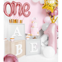 Decorative objects - Foil Balloon Number ''1'', 30x90cm, light pink - PARTYDECO
