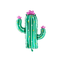 Decorative objects -  Foil balloon Cactus, 60x82cm, mix - PARTYDECO