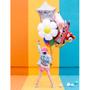 Decorative objects - Foil balloon Daisy, 75x71cm, mix - PARTYDECO