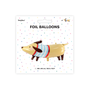Design objects - Foil balloon Dachshund, 90x40cm, mix - PARTYDECO