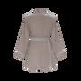 Homewear - Robe courte en velours avec ceinture | Cool Grey - THE ANNAM HOUSE