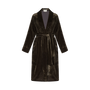 Homewear - Robe longue passepoilée en velours avec ceinture | Moka - THE ANNAM HOUSE