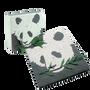 Papeterie bureau - Set bloc notes et carnet Panda en bouse d'éléphant - RUE RANGOLI