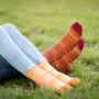 Socks - Striped Socks 98% Organic Cotton Corespun - PIRIN HILL