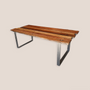 Dining Tables -  Table with Reclaimed wooden top  with O  steel base - LIVING MEDITERANEO