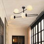 Hanging lights - RICHMOND hanging lamp with globes  - LUXCAMBRA
