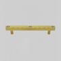 Unique pieces - CABINET HANDLE SQUARE 3 CRYSTALS BETWEEN DISTANCE 128mm - LES FORGES DE SAINT-AMAND
