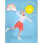 Objets de décoration -  Ballon en aluminium Rainbow, 55x40cm, mélange - PARTYDECO