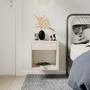 Tables de nuit - Table de nuit flottante HUGO avec tiroir - WOODEK