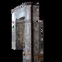 Unique pieces - One of One Oxidated Vintage Hard Stone Fireplace Surround  - MAISON LEON VAN DEN BOGAERT ANTIQUE FIREPLACES AND RECLAIMED DECORATIVE ELEMENTS